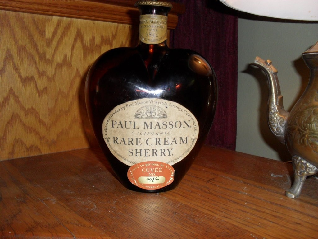 Paul Masson Rare Cream Sherry Bottle Reduced