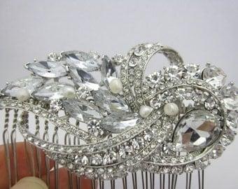 Wedding headpiece bridal hair comb bridal jewelry wedding hair comb bridal hair accessories wedding hair comb 1920's bridal headpiece comb