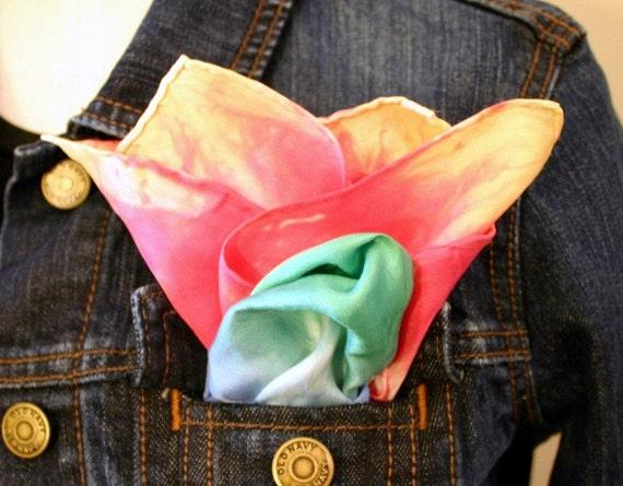 Chameleon Silk Pocket Scarf