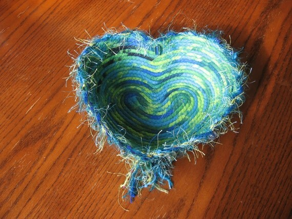 """SALE!!!   Coiled Fabric Bowl """"Wild at Heart"""""""