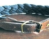Braided Denim and Leather Belt // Made to Measure