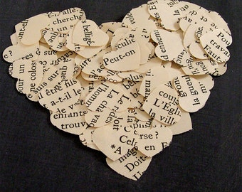 Vintage French Heart Confetti