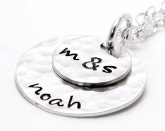 Personalized Layered Mom Necklace - Hand Stamped Jewelry