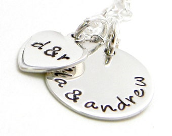 Mom Personalized Necklace - Hand Stamped Jewelry