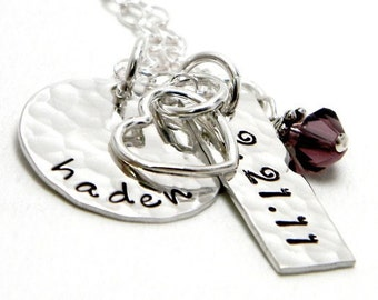 Mom Necklace - Personalized Hand Stamped Jewelry