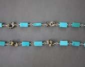 Speckled Stone necklace - turquoise, tan