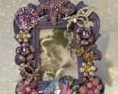 Jeweled Picture Frame  Vintage Earrings, Jewels, Swarovski Crystal Ocean Themed Bling