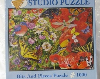 Birds and Butterflies 1000 Piece Puzzle Autographed by Artist