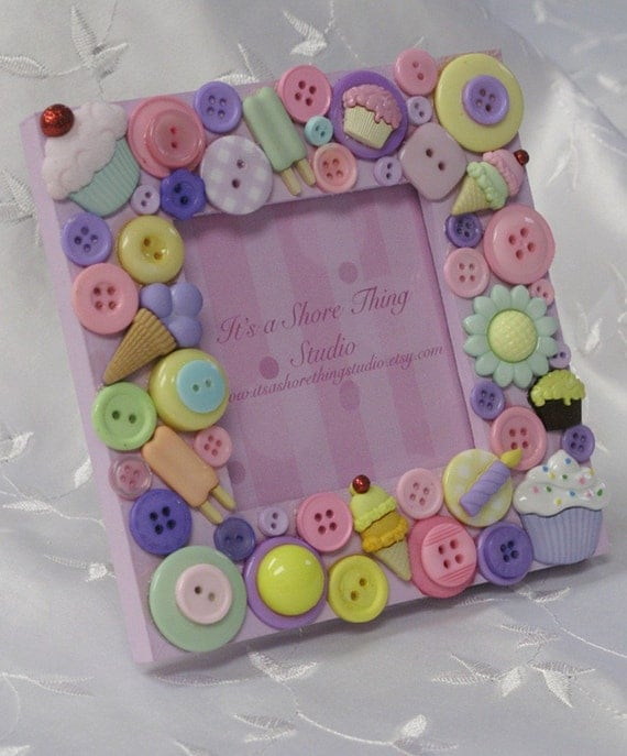 Sweet Celebrations Embellished Button Picture Frame