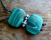 Malachite and Tibetan Silver necklace. Handmade. Mineral properties.
