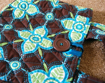 Michael Miller Whimsy Large Pretty Petals Brown - Handbag