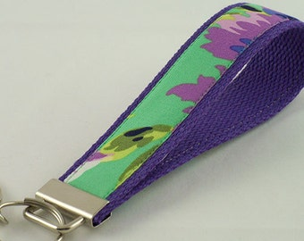 Key Fob made with Cotton Webbing and Fabric