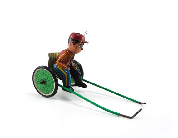 Vintage tin toy - Mechanical Racing Trotter