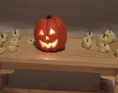 Dolls house Light up Halloween pumpkin Jack O Lantern