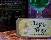 Absinthe Lip Balm, La Fee Verte Sweet Anise Lip Treat in a Sliding Tin