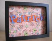 Personalized Child/Baby Name - Fun robots - Patrick
