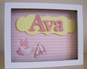 Personalized Child/Baby Name  Pink Ballerina - Ava