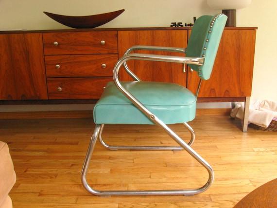 KEM Weber Style Machine Age Tubular Chrome Chair
