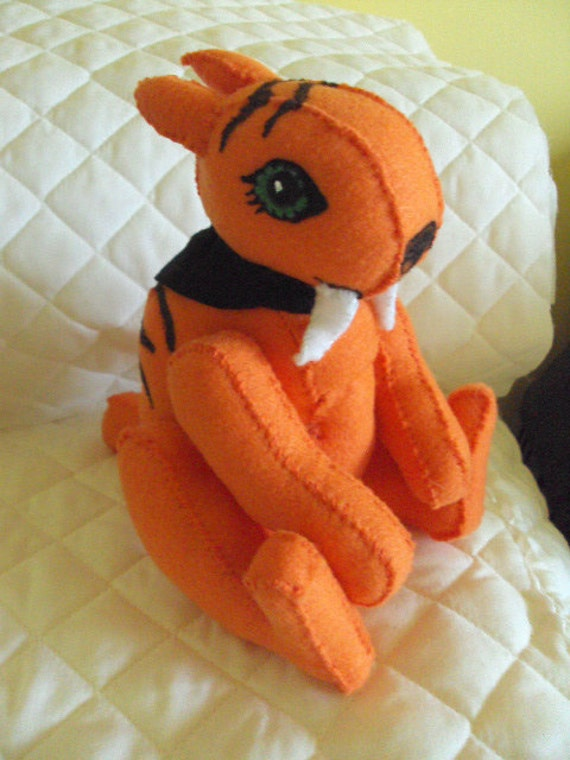 monster high Sweet Fang sabre-tooth tiger  felt plush toy