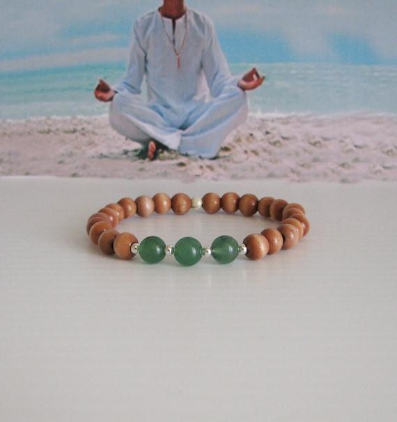 Wrist Mala, Meditation Bracelet, Prayer Bracelet, 27 Bead Mala, Focus Jewelry
