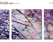 SALE Purple Trees II Wall Art Series