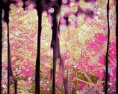 Pink Trees Photography Mixed Media Decor