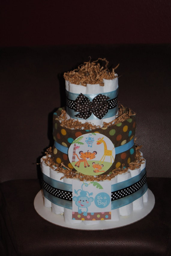 fisher price baby shower theme diaper cake by ericajmoore on etsy