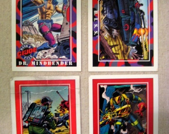 11 Vintage GI Joe Trading Cards