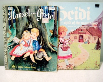 Vintage Story Book Set Of Two Heidi, and Hansel and Gretel