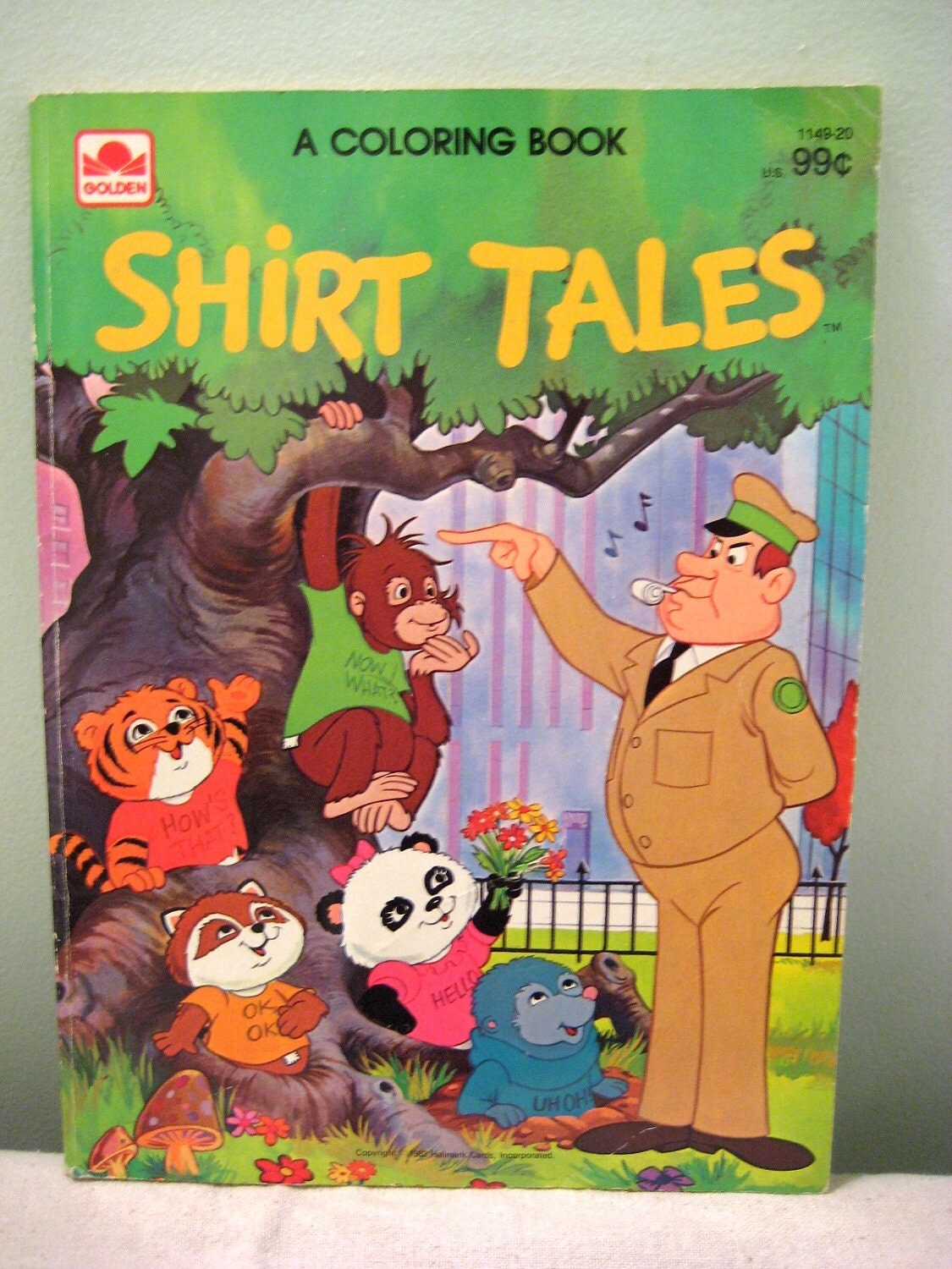 Vintage Shirt Tales Coloring Book