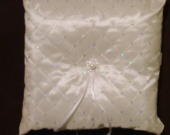 ring bearer pillow custom made elegant ivory