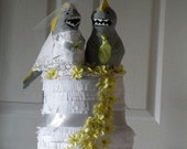 Wedding Cake Pinata With Customizable Cake Topper- Made to Order