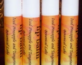 Best Moisturizing Lip Balm. Lip Conditioner. Pineapple and Tangerine