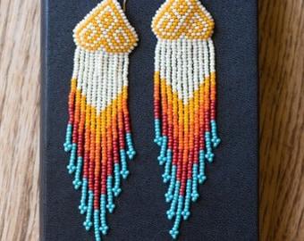 Beaded earrings - Native American inspired design