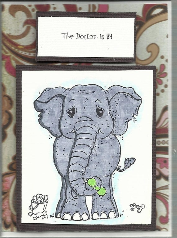 """The """"Dr. is in , Get well"""" card"""
