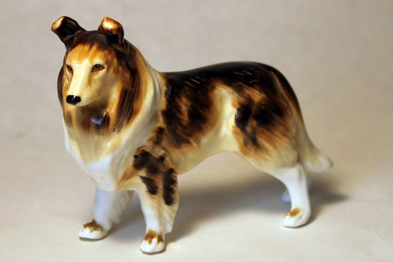 Vintage Collie Figurine