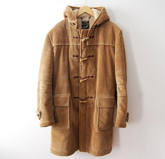 Corduroy Duffle Coat - Coat Nj