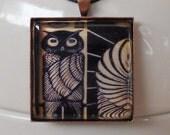 Vintage Image Pendant - Owl