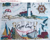 Vintage Massachusetts Linen Tea Towel Cape Cod