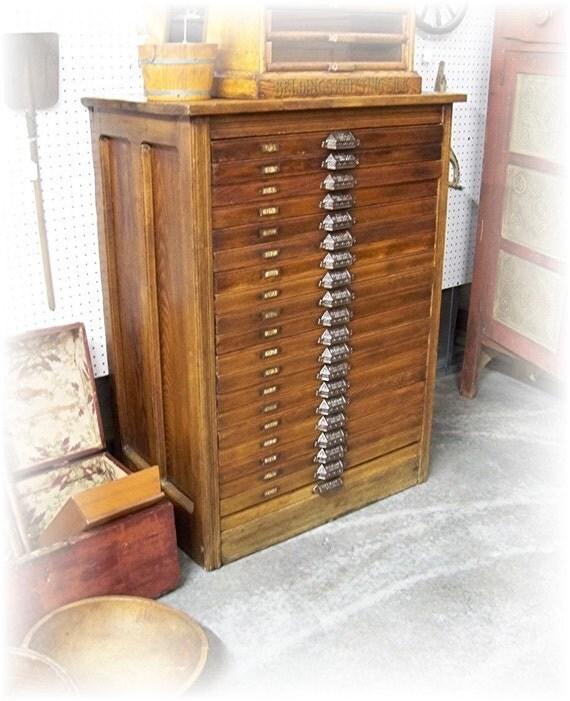Antique Letterpress Cabinet Letterpress Cabinet-smith