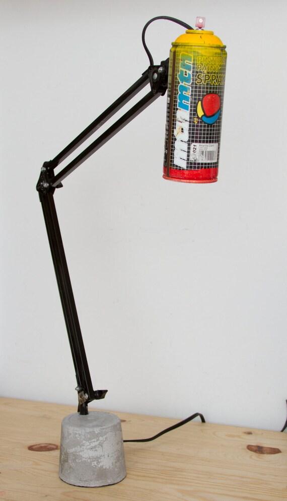 Large Spray Paint Swivel Arm Architect  Lamp with Concrete Base