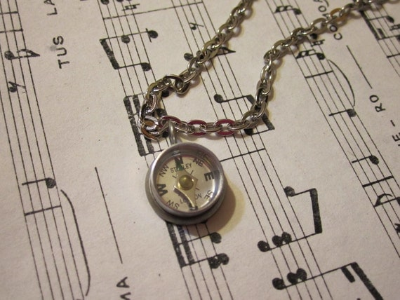 12mm Working Compass Necklace