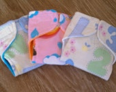 Set of 3 doll cloth diapers