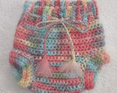 Crocheted Wool Soaker (Diaper Cover) Made From Upcycled Yarn