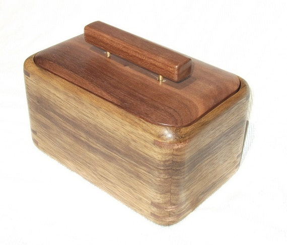 Sculpted Black Limba box with Walnut lid and trim
