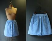 Mini Skirt / Polka Dot Skirt