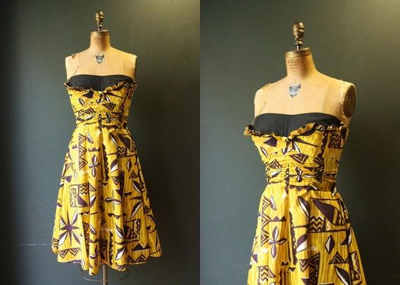RESERVED TikI Summer Dress / 50 Dress / 1950s Hawaiian Dress