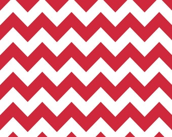 Riley Blake Fabric - Half Yard of Medium Chevron in Red