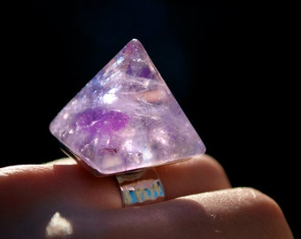 Amethyst Pyramid Ring