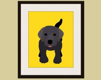Labrador dog print. Puppy modern nursery artwork for baby & kids room and playroom decor theme.Dog theme by WallFry